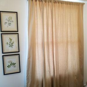 Restoration Hardware curtain 96L x 100W